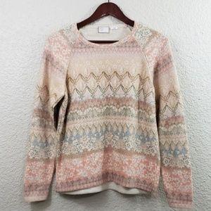 Postmark Anthropologie Garden knit sweater